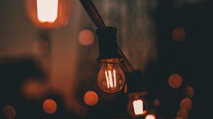 Превью обои лампа, электричество, освещение, размытость