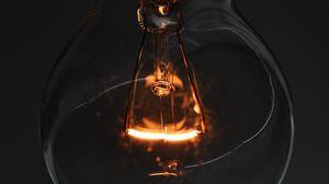 Превью обои лампочка, электричество, свечение, макро, крупный план