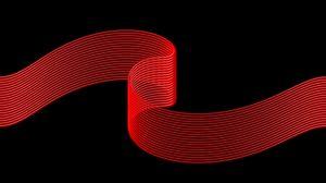 Превью обои лента, полосы, красный, черный