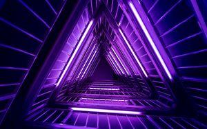 Превью обои лестница, фиолетовый, свет