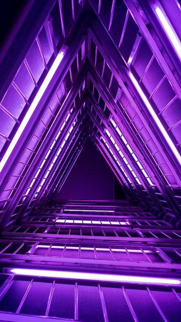 360x640 Обои лестница, фиолетовый, свет