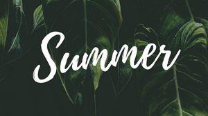 Превью обои лето, слово, надпись, текст, листья