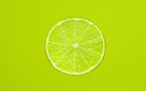 Превью обои лимон, долька, цитрус, минимализм, зеленый
