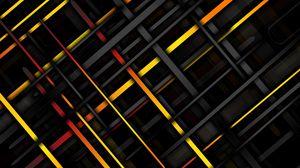 Превью обои линии, пересечение, наискось, разноцветный, текстура
