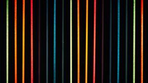 Превью обои линии, разноцветный, неон, свет