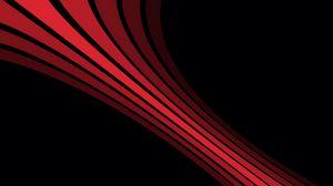 Превью обои линии, тень, полосы, форма, черный, красный