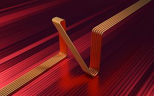 Превью обои линии, трубки, изогнутый, 3d, форма