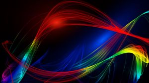 Превью обои линии, волнистый, разноцветный, абстракция, сплетения