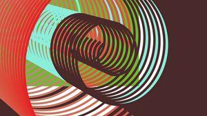 Превью обои линии, вращение, иллюзия, красочный