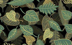 Превью обои листья, узоры, текстура, иллюстрация