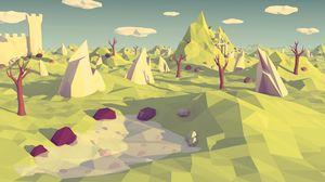 Превью обои low poly, многоугольник, пейзаж, абстракция