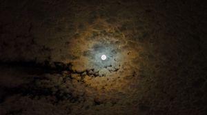 Превью обои луна, облака, небо, ночь