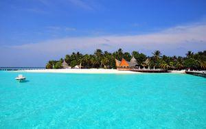Превью обои мальдивы, тропики, пляж, остров