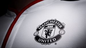 Превью обои manchester united, футбол, логотип