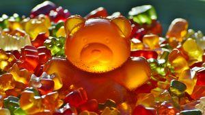 Превью обои мармелад, конфеты, медведь