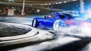 Превью обои машина, спорткар, дрифт, скорость, гонки