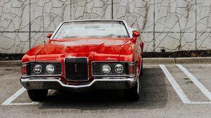 Превью обои mercury cougar, автомобиль, ретро, вид спереди