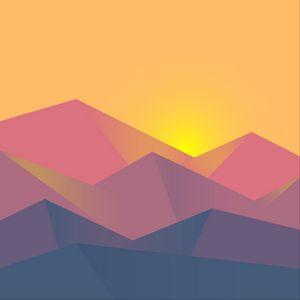 Превью обои минимализм, геометрический, пейзаж