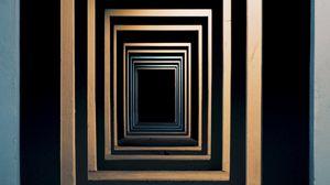 Превью обои минимализм, симметрия, помещение, квадраты, вход, углубление