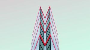 Превью обои минимализм, здание, архитектура, симметрия