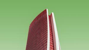 Превью обои минимализм, здание, фасад, модерн