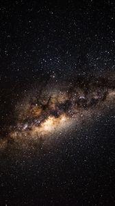Превью обои млечный путь, звездное небо, галактика