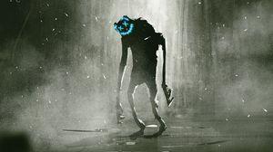 Превью обои монстр, маска, существо, арт