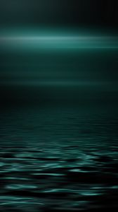 Превью обои море, горизонт, темный, минимализм, блеск
