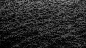 Превью обои море, волны, черный, поверхность, вода