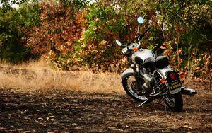 Превью обои мотоцикл, осень, транспорт