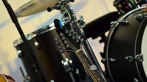 Превью обои музыкальный инструмент, музыка, ударные, гитара