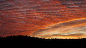 Превью обои небо, облака, закат, красиво