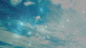 Превью обои небо, звезды, фон, светлый, абстракция