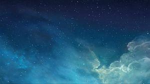 Превью обои небо, звезды, облака, абстракция
