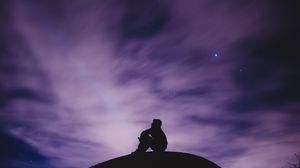 Превью обои небо, звезды, одиночество, свобода