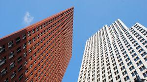 Превью обои небоскребы, здания, небо