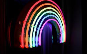 Превью обои неон, свет, лампы, яркий, линии