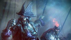 Превью обои нежить, пираты, дождь