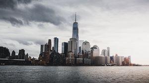 Превью обои нью-йорк, сша, небоскребы, панорама