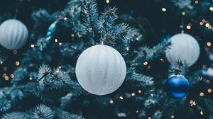 Превью обои новогодний шар, елочная игрушка, украшение