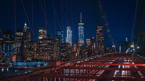 Превью обои нью-йорк, бруклин, мост, сша