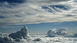 Превью обои облака, небо, лето
