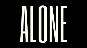 Превью обои одиночество, надпись, текст, минимализм