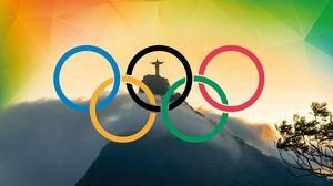 Превью обои olympic games rio 2016, рио-де-жанейро, бразилия, корковадо
