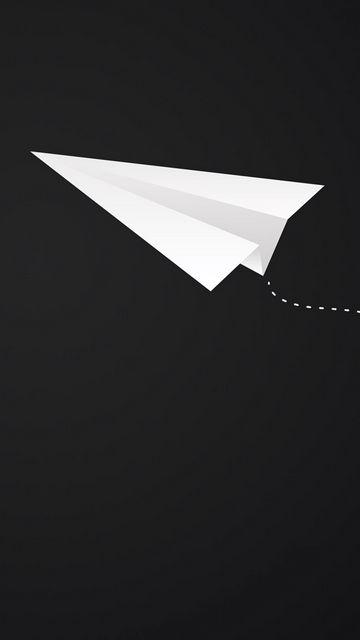 360x640 Обои оригами, самолет, арт, бумага, минимализм