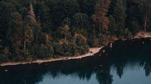 Превью обои озеро, вода, отражение, деревья, rattlesnake, сша