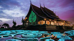 Превью обои пагода, храм, здание, архитектура, декорация