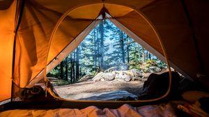 Превью обои палатка, кемпинг, путешествие, туризм, природа