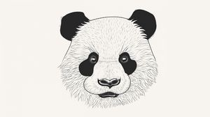 Превью обои панда, арт, морда