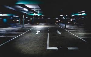 Превью обои парковка, подземный, разметка